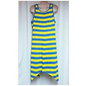 Jessica London Dresses - Jessica London Striped Tank Dress Blue Yellow